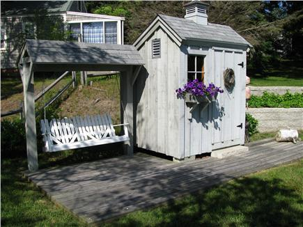 West Dennis Cape Cod vacation rental - Enjoy sunsets/morning coffee from swing at pond frontage