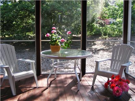 S. Chatham Cape Cod vacation rental - Dine in the out of doors on large screened-in back porch