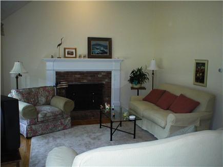 S. Chatham Cape Cod vacation rental - Enjoy bright living room, two sofas, fireplace,plenty of seating.