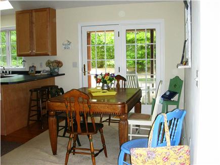 S. Chatham Cape Cod vacation rental - Dining area, seats 6, leads through French doors to porch.