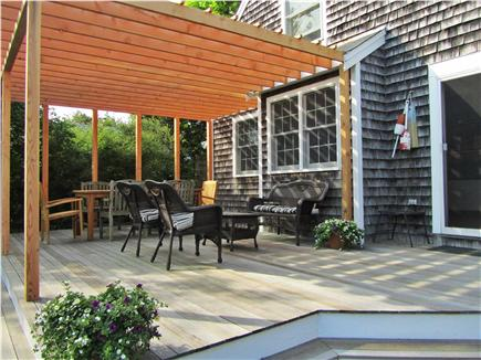Chatham Cape Cod vacation rental - Mahogany Deck and Pergola - gas grill