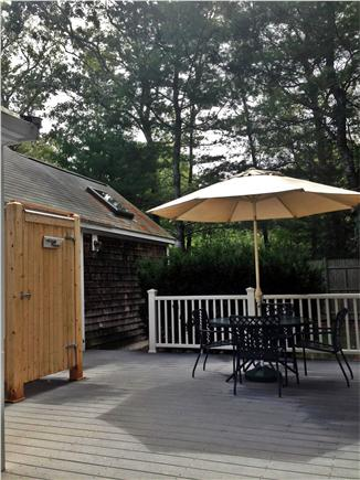 Cotuit Cotuit vacation rental - Back Deck with Outdoor Shower, Patio Furniture and Grill