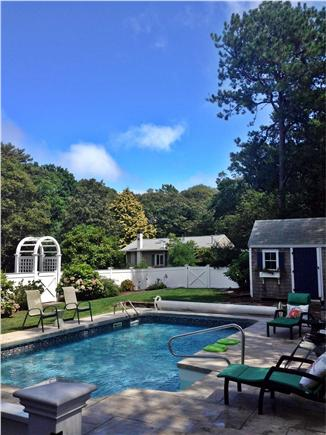 Cotuit Cotuit vacation rental - Pool Area w/Patio Table, Chairs  and Chaises