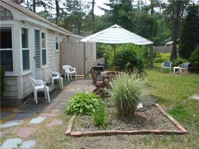 South Yarmouth Cape Cod vacation rental - Patio furniture, grill and outdoor shower