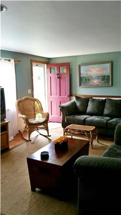 South Yarmouth Cape Cod vacation rental - Living Room with 32'' TV, DVD player and VCR