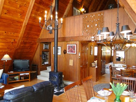 S. Chatham Cape Cod vacation rental - Open floor plan, showing upper loft