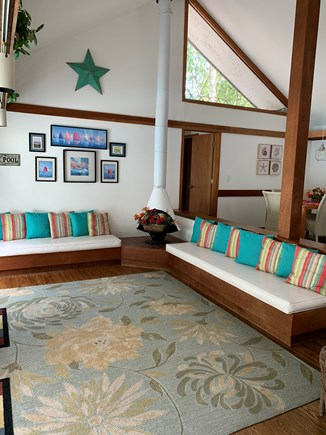 New Seabury Cape Cod vacation rental - View of the sunken living area in the great room