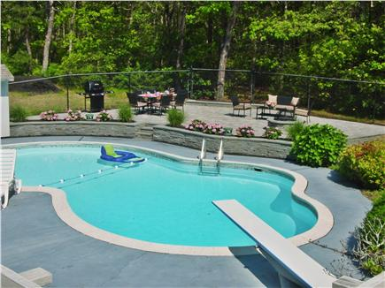 New Seabury Cape Cod vacation rental - Enjoy the Pool, and Patio, with table, chairs and fire pit