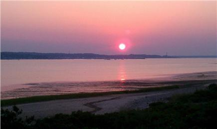 Plymouth MA vacation rental - Sunset from back deck.