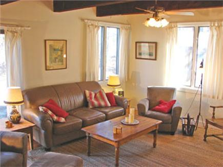 Barnstable Village  Cape Cod vacation rental - Living area with fireplace and TV