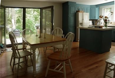 Barnstable Village  Cape Cod vacation rental - Sunny eat-in kitchen with French doors opening to large patio