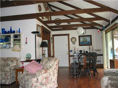 South Chatham Cape Cod vacation rental - Living/Dining withsliders opening to deck