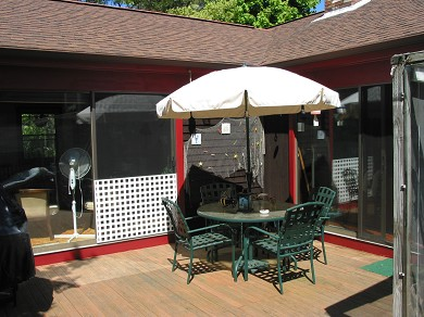 South Chatham Cape Cod vacation rental - Sunny, south facing deck with grill, small sun room