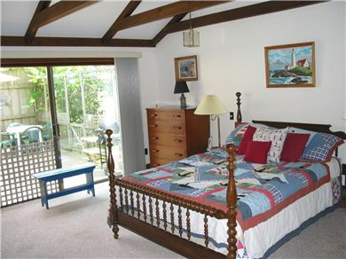 South Chatham Cape Cod vacation rental - Large Master Bedroom with slider opening to deck