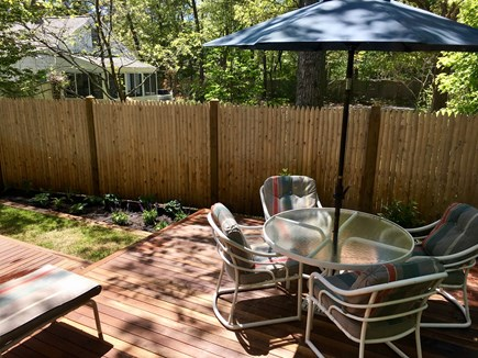 Cotuit Cotuit vacation rental - Back Deck from inside house