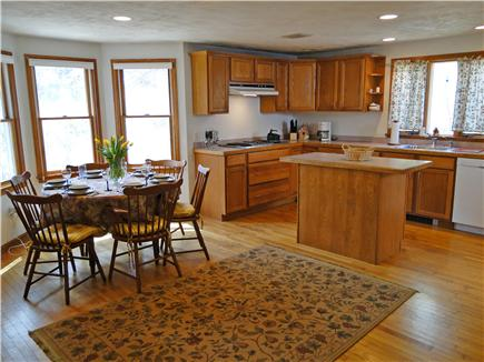 Falmouth Cape Cod vacation rental - Dining area with bay window, spacious kitchen