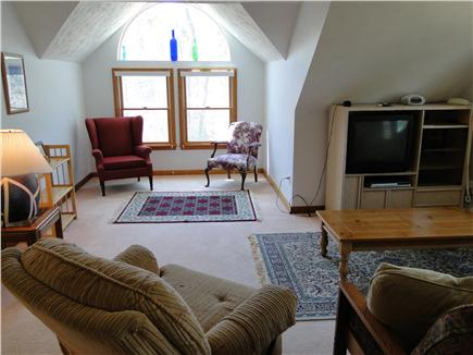 Falmouth Cape Cod vacation rental - Upstairs large TV room with futon