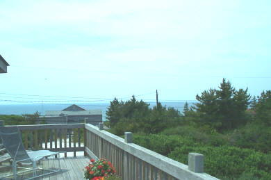 North Truro Cape Cod vacation rental - View of Bay from the deck