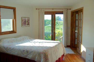 North Truro Cape Cod vacation rental - Bedroom 2 (first floor) has a door that opens to a small garden