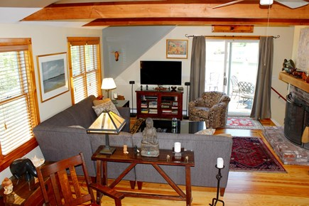 Provincetown Cape Cod vacation rental - Great room (view toward the deck).