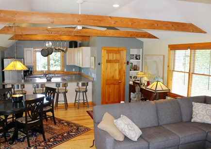 Provincetown Cape Cod vacation rental - Great room (view toward the kitchen).