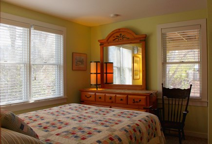 Provincetown Cape Cod vacation rental - Green bedroom.