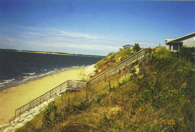 Wellfleet Cape Cod vacation rental - Private stair to beach from house with half deck