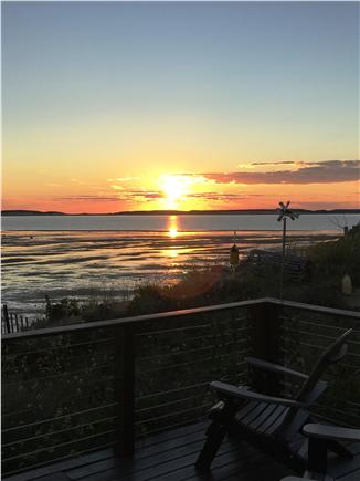 Wellfleet Cape Cod vacation rental - Deck time at sunset