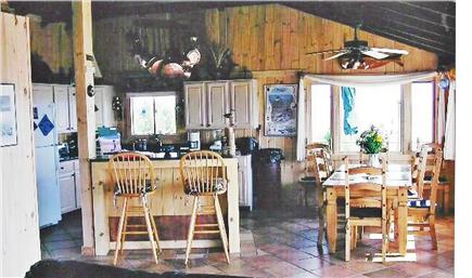Wellfleet Cape Cod vacation rental - Kitchen & Dining Area over looking Cape Cod Bay
