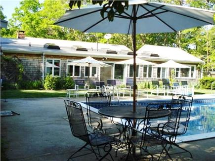 West Yarmouth Cape Cod vacation rental - Poolside lounging