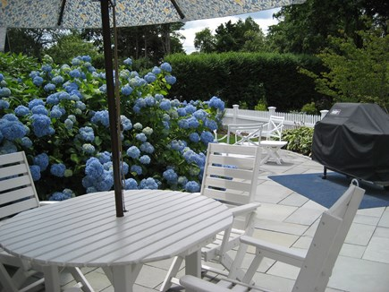 Chatham, In Olde Village near Mill Pond Cape Cod vacation rental - Back Patio