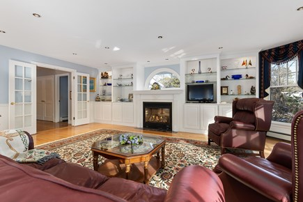 Chatham, downtown Cape Cod vacation rental - Comfortable study with TV and in cooler weather a gas fireplace