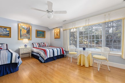 Chatham, downtown Cape Cod vacation rental - Queen and twin bed, large window with room darkening drapes