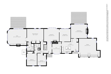 Chatham, downtown Cape Cod vacation rental - Ground level floor plan