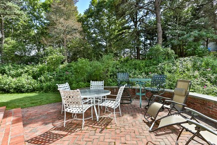 Chatham, downtown Cape Cod vacation rental - Second patio near first floor master bedroom,