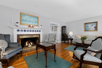 Chatham, downtown Cape Cod vacation rental - Gas log fireplace for Fall and Spring--sit, meditate, read, relax