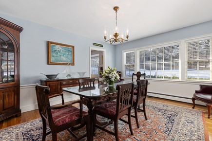 Chatham, downtown Cape Cod vacation rental - Dining room with expansive views of nature
