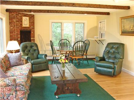Chatham Cape Cod vacation rental - Sunny family room with fireplace