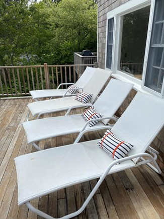 Chatham Cape Cod vacation rental - Sun bathing on the deck