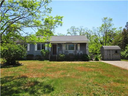 Eastham Cape Cod vacation rental - Front view with large yard and shed for bikes, etc.