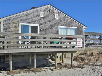 West Dennis Cape Cod vacation rental - View of house from the beach