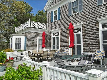 Chatham Cape Cod vacation rental - Beautiful deck overlooking large lawn and water views