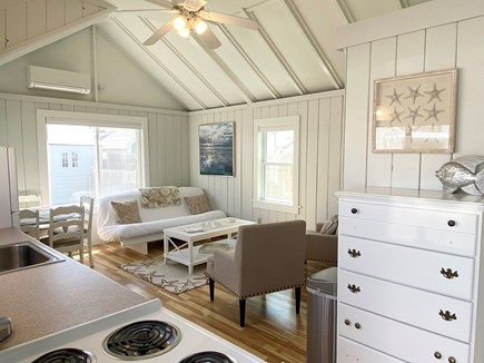 Dennis Port-Ocean Front Cape Cod vacation rental - Starfish Cottage Living Room with Ocean View