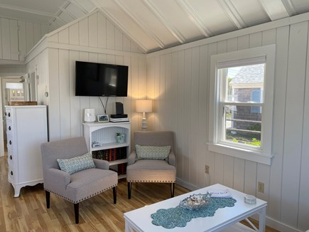Dennis Port-Ocean Front Cape Cod vacation rental - Coral Cottage Living Room with Flat screen TV. & Oceanviews