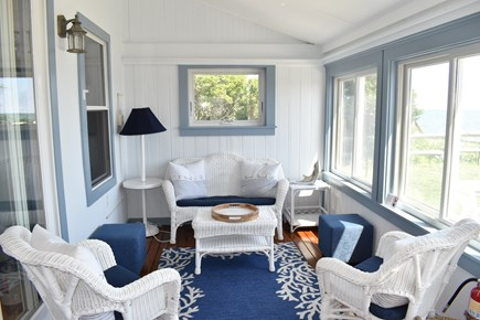 Dennis Port-Ocean Front Cape Cod vacation rental - Seascape Sun Porch Sitting area