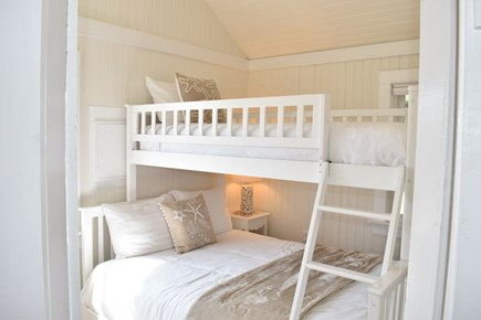 Dennis Port-Ocean Front Cape Cod vacation rental - Starfish Cottage Bedroom 2 with Twin over Full-size Bed