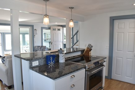 Dennis Port-Ocean Front Cape Cod vacation rental - Seascape Kitchen & Dining Area. Granite Counters & SS Appliances