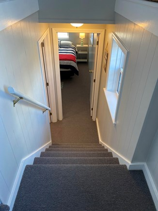 West Dennis Cape Cod vacation rental - Stairway to lower level