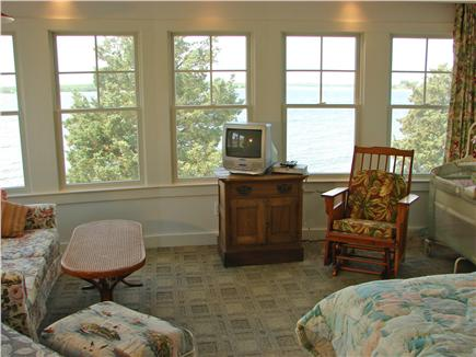 North Falmouth (Megansett) Cape Cod vacation rental - Upstairs master, all ocean views, sitting area, laundry & bath.