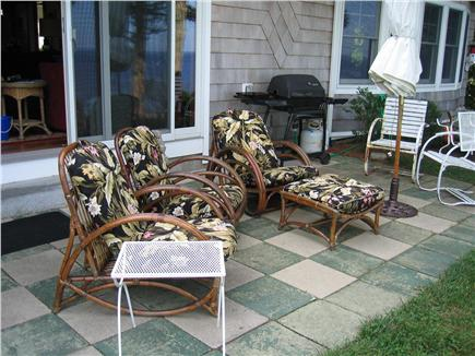 North Falmouth (Megansett) Cape Cod vacation rental - Comfy wicker chairs - have a  drink , enjoy family and  friends